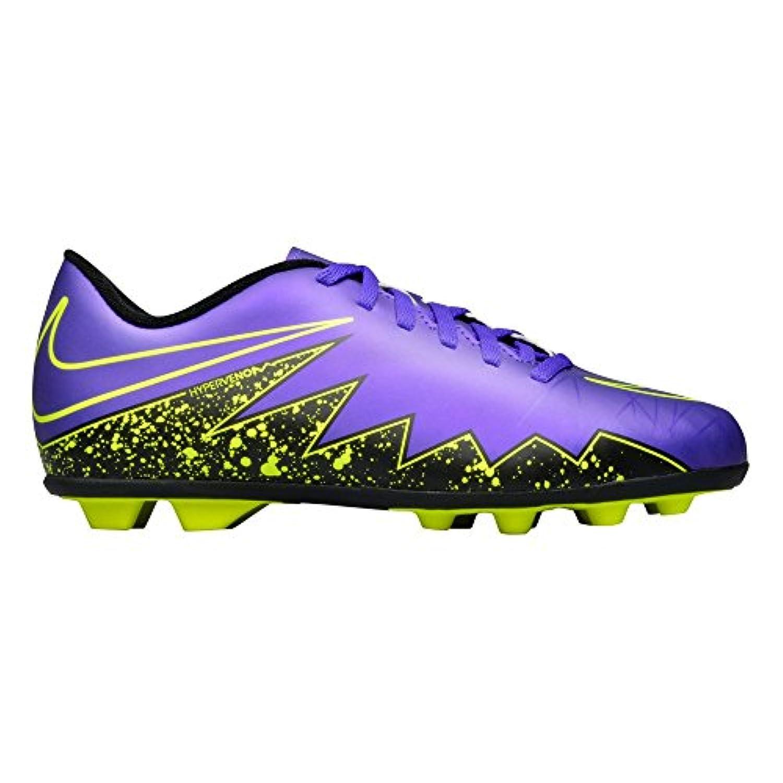 Nike Unisex Kids' Jr Hypervenom Phade II Fg-R Football Boots, Multicolour - Marrón / Black / Blanco (Mtlc Rd Brnz / Blk-Grn Glw-White-), 2.5 UK