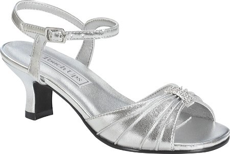 Touch Ups Little Kid/Big Kid Talia Ankle-Wrap Sandal Silver pQp5i9