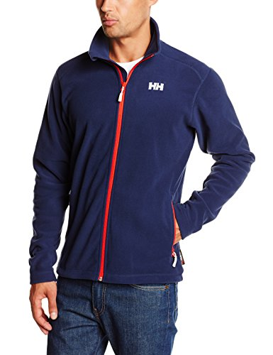 2017 Helly Hansen Mens Daybreak Fleece Jacket Evening Blue / Navy Logo 51598