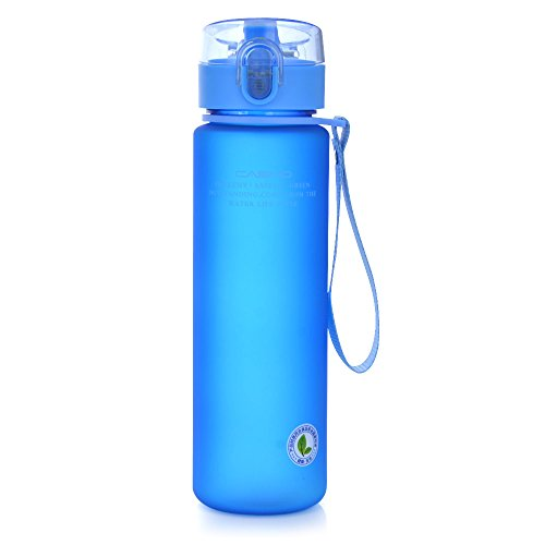 GTI 19oz Sports Water Bottle, BPA-Free Wide Mouth Drink Bottles For Kids With Leak Proof Flip Top Lid Eco-Friendly Plastic Tritan Sports Bottle for Outdoor Running Camping Gym Yoga Blue (Flip Top Drink)