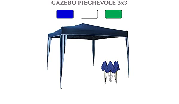PROFESSIONAL Carpa Plegable de Aluminio 3 x 3 Metros Revestimiento de PVC: Amazon.es: Jardín