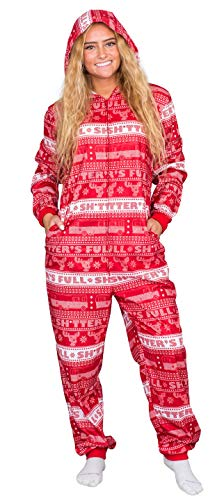 National Lampoon's Christmas Vacation Shitter's Full Pajama Union Suit (Adult X-Large)