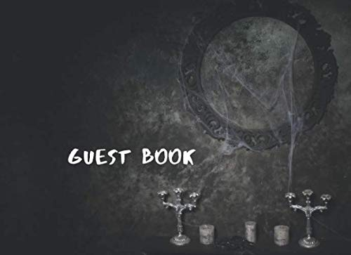 Guest Book: Cobwebs Candles Themed Halloween Wedding Party Sign In Book]()