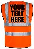 PERSONALISED PRINTED Hi-Vis High-Viz Visibility Safety Vest/Waistcoat