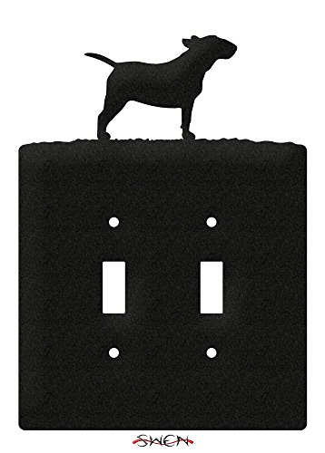 SWEN Products BULL TERRIER Metal Wall Plate Cover