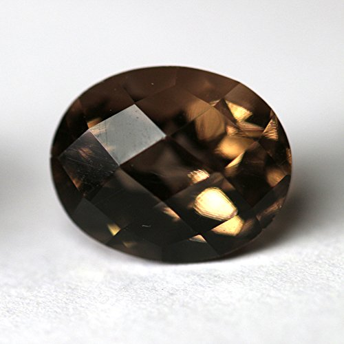 - 100% Natural Smoky Quartz Checkerboard Cut 15x20mm Oval Shape Top Quality Loose Gemstone Beautiful Smoky Quartz Loose Gemstone