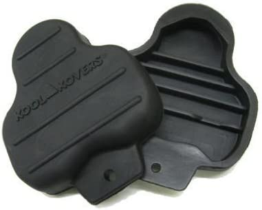 KOOL KOVERS LOOK DELTA CLEAT BLACK BICYCLE PEDAL COVERS