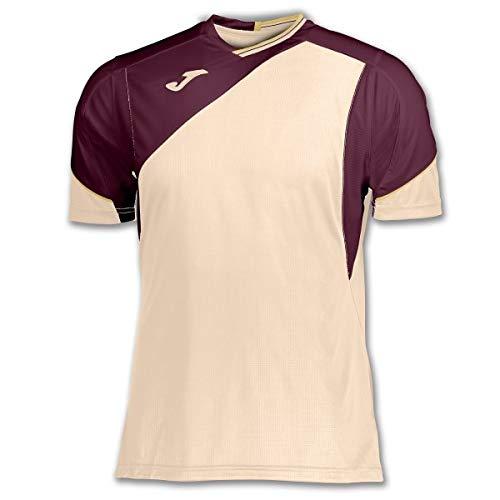 Joma Camiseta Granada Beige-Vino M//C Manga Corta Hombre