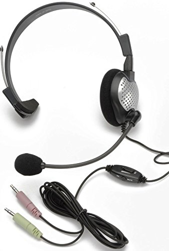 Boom Flex Monaural - Andrea C1-1022200-1 Model NC-181 VM High Fidelity On-Ear Monaural PC Headset, Proprietary Noise-canceling Microphone with Windsock, Pro-flex Wire Microphone Boom, 40 mW Max. Input Power