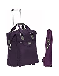 "Biaggi Contempo Foldable 18"" Wheeled Tote (Purple)"