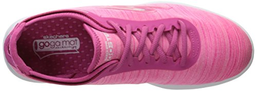 Skechers Performance Women's Go Step Lace-Up Walking Shoe Hot Pink Heather fake for sale cheap get to buy XXvWvoQaS