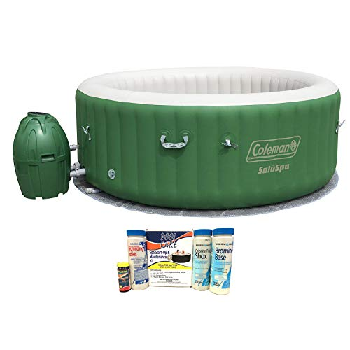 MuV Coleman Person Inflatable Jacuzzi Bubble Tub Hot Tub Chemical Start Up with Bromine