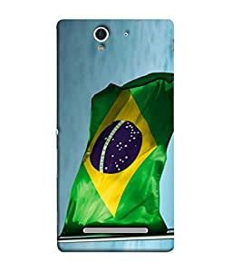 ColorKing Football Brazil 01 Multi Color shell case cover for Sony Xperia C3