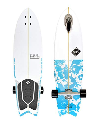 Street Surfing 2-Wheeled Wave Board Rider Wooden Deck. Lightweight Skateboards with Direction Caster...