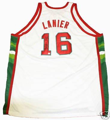 Amazon.com: Bob Lanier Autographed Mitchell & Ness ...
