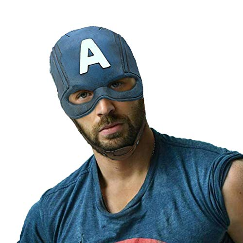 Handmade Avengers Superhero Mask Comics Classic Latex Captain America Helmet Halloween Party Cosplay Costume Helmet Grey -