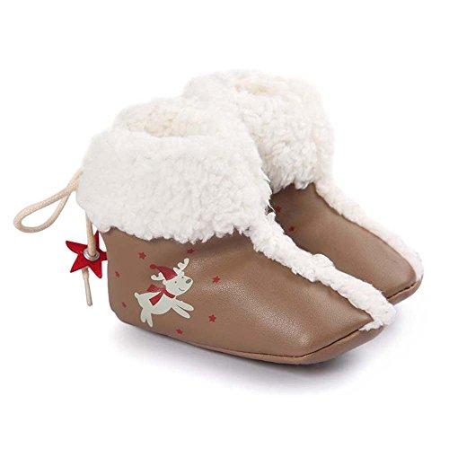 Weihnachtsstiefel künstlich PU Winter Lauflernschuhe Krabbelschuhe Babyschuhe
