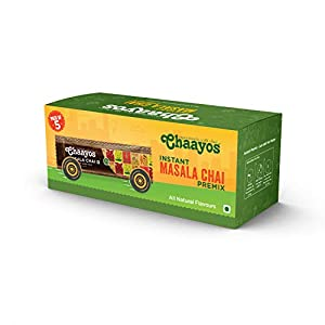 Chaayos Regular Sugar Masala Flavour Ready Made 1 Min Instant Tea Premix Sachets, 15 Pieces