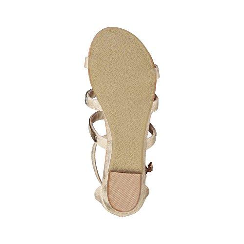 para mujer Unbekannt Sandalias marrón de marrón vestir C4nfqwt