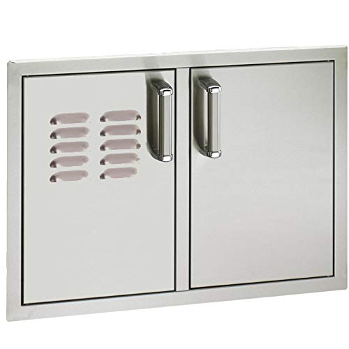 Fire Magic Premium Flush 30 X 20-inch Double Access Door with Soft Close & Louvers - ()