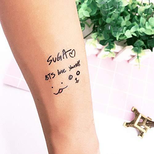 YWJ 2 Hojas Impermeables Tatuajes temporales Tatuajes Falsos Arte ...