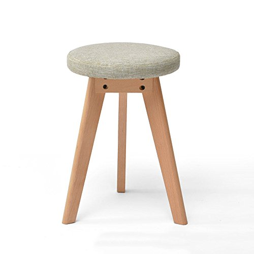 Stool - solid wood stool/fashion stool/fabric makeup stool/home table stool/Nordic small bench (two optional) 4540cm (Color : 2) by StoolStool