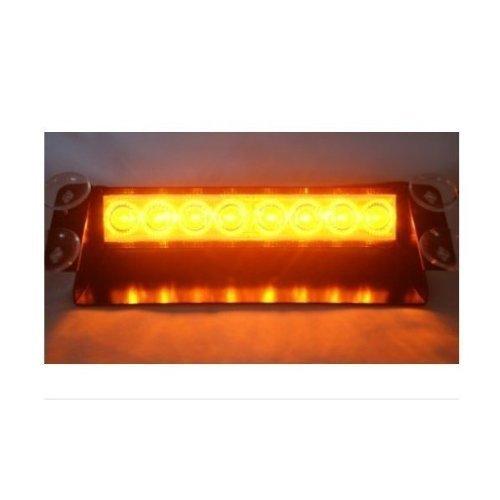 Rupse-8-LED-Amber-Strobe-Dash-Deck-Windscreen-Light-Bar-Beacon