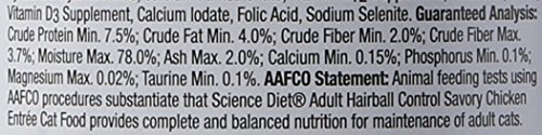 Picture of Hill'S Science Diet Adult Hairball Control Savory Chicken Entree Minced Cat Food, 3 Oz, 24-Pack