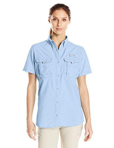 Columbia Women's PFG Bahama Short Sleeve Shirt , Faded Sky, Medium by Columbia