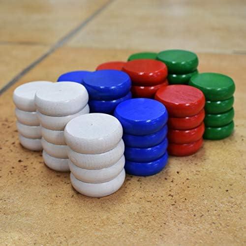 [해외]4 Player Tournament Size Crokinole Disc Party Pack (52 Discs) / 4 Player Tournament Size Crokinole Disc Party Pack (52 Discs)