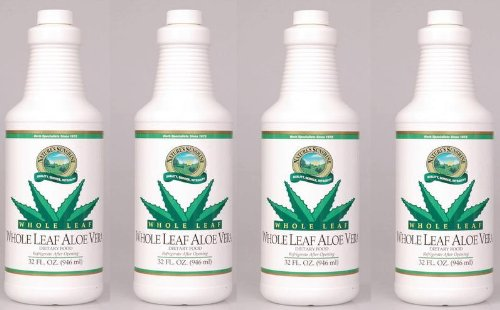 Naturessunshine Aloe Vera Whole Leaf Herbal Food Supplements 32 fl. oz (Pack of 4)