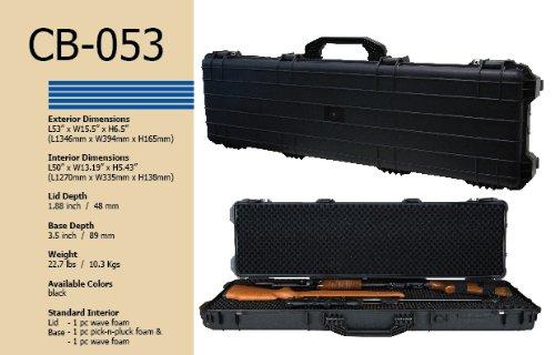 T.Z. Case International CB053 B 53 x 15 x 6 1/2-Inch Molded Utility Case with Wheels, Black by T.Z. Case International (Image #4)