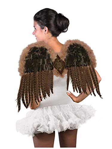 Forum Novelties Women's Exotic Feather Wings, Brown, One Size