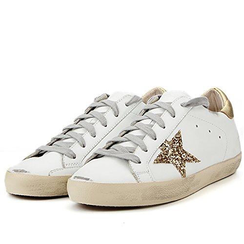 Golden Goose Men Superstar White Golden Tap Low Top Sneakers GCOMS590A9 (EU 43 F(M) / US 9.5 B(M)) -  The Golden Goose