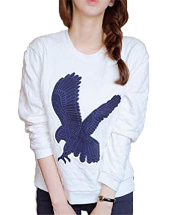 Sweet Long Eagle Print Hoodies