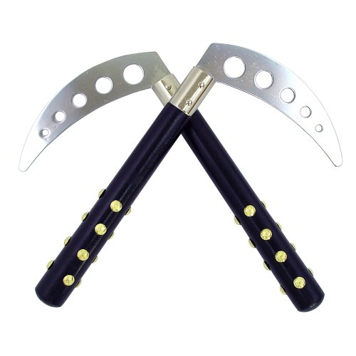 "Black Studded Competition Kamas - 10"" long"
