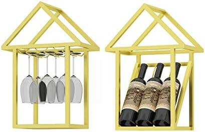 LTLWSH Botellero para Vinos de Pared,Decoración de Pared Soporte de Pared para restaurantes, Bares, Muebles de hogar, etc,Oro,B: Amazon.es: Hogar