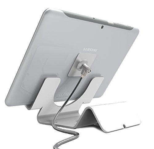 Maclocks CL12UTHWB Universal Security Tablet Holder With Security Cable Lock and Plate (White) by Compulocks