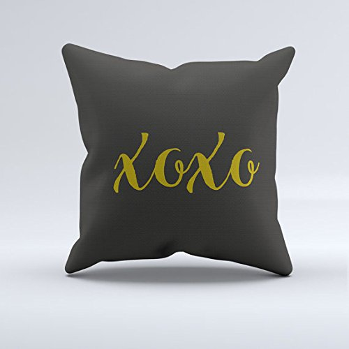 [love throw pillow, hugs and kisses xoxo throw pillow, mustard yellow and gray throw pillow, modern throw pillows] (Pan Goat Man Costume)