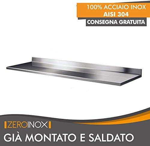 180x60x4h 60cm profondità per Tavolo in Acciaio con ...
