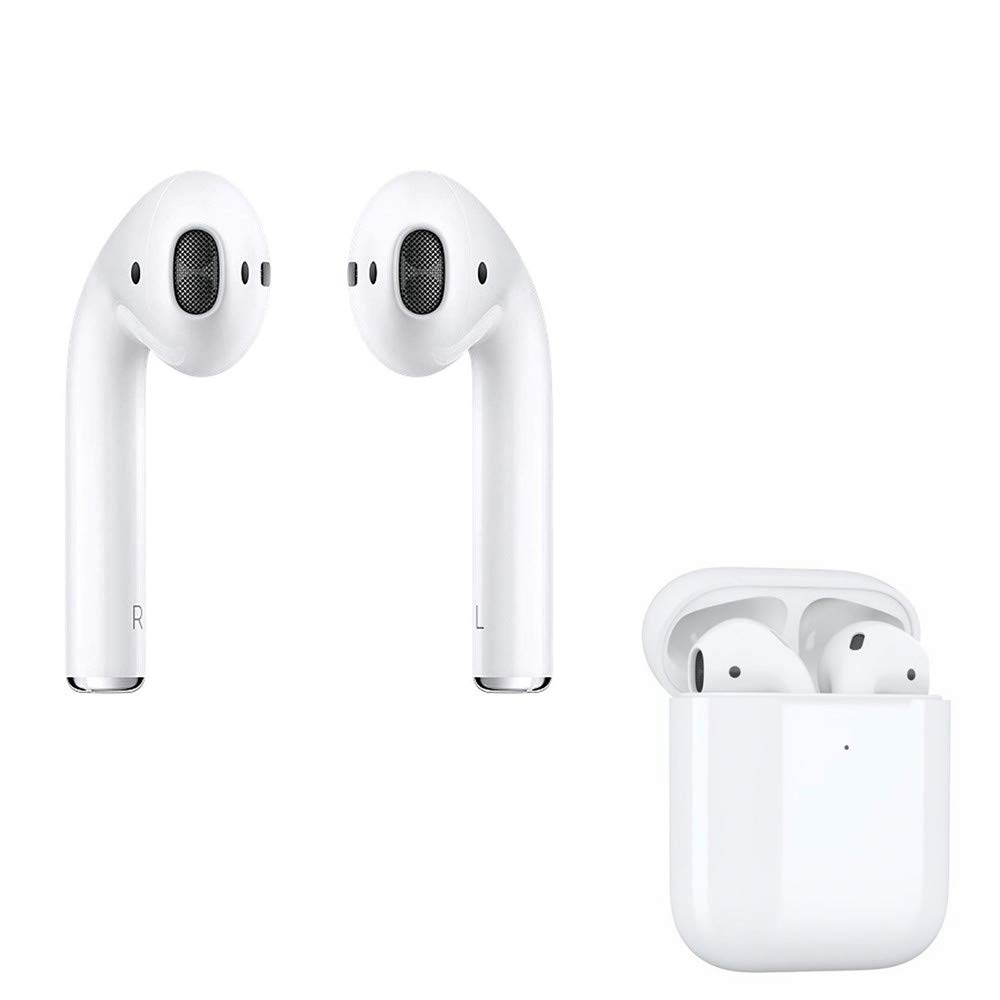 FASH 1:1Refurbished AirPods with Charging Case,5.0 Wireless Earbuds Stereo Headphones in Ear Built in Mic Headset Premium Sound with Deep Bass for Sport (Latest Model)