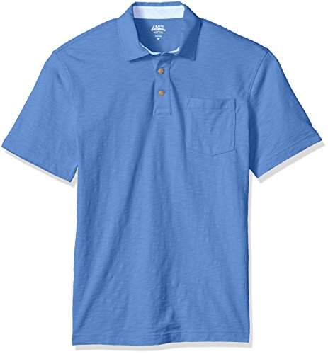 IZOD Mens Saltwater Chest Pocket Slub Polo