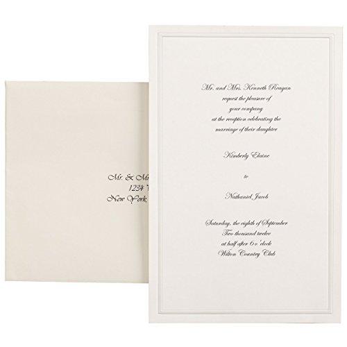Wilton 100-Pack Single Border Invitation, Ivory -
