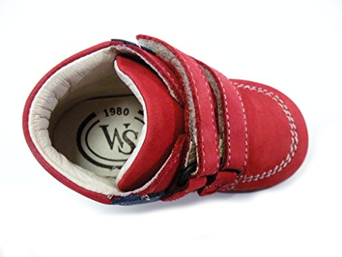 Walk Safari Scarponcino Primi Passi Velcro Rojo macho rojo Rojo
