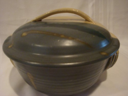 (Rowe Pottery Casserole Dish 2 quart pottery covered casserole)