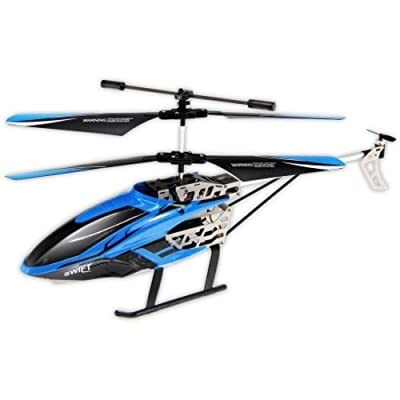 Sky Rover YW857126-6 Swift Auldey IR 3 Channel w/Gyro Indoor Helicopter - Blue: Toys & Games