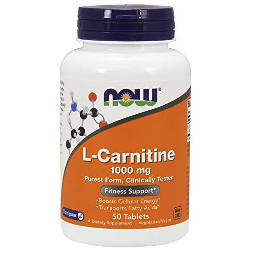 NOW L-Carnitine 1000 mg,50 Tablets
