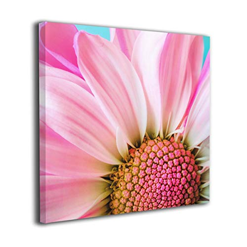 Fu Qi Rui Shang Mao Canvas Wall Art Prints Pink Gerber Daisy Picture Paintings Contemporary Home Decoration Giclee Artwork Wood Frame Gallery Stretched 16
