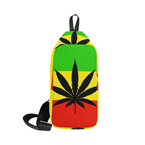 Marijuana Small Sling Bag Backpack Cross For Waterproof Leaf Chest Cannabis Men Flag Body Bennigiry Women Shoulder Texture amp; SqxCnYwEAX