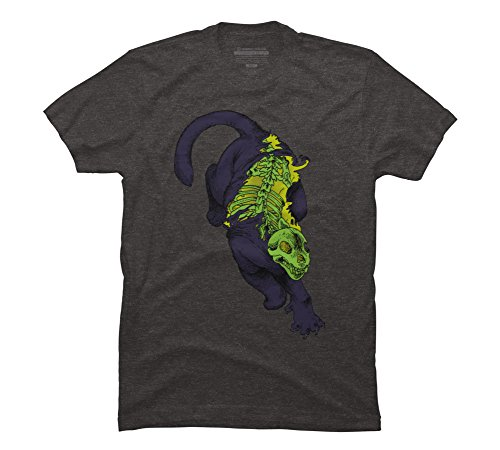 Animalia Men's 4X-Large Charcoal Heather Graphic T Shirt - Design By Humans